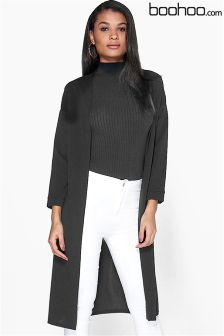 Boohoo Collarless Duster Jacket