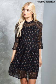 Vero Moda High Neck Swing Dress