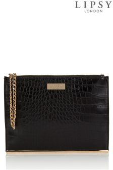Lipsy Mock Croc Clutch Bag
