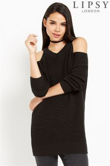Lipsy Chunky Cold Shoulder Jumper