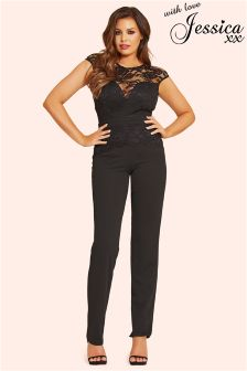 Jessica Wright Lace Overlay Jumpsuit