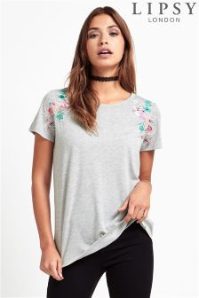 Lipsy Embroidered Crew Top