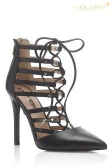 Soloro Tie Caged Sandals