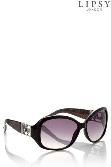 Lipsy Round Marble Arm Sunglasses
