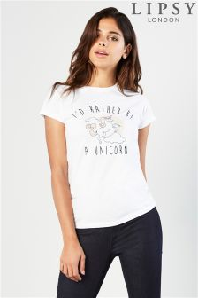 Lipsy Unicorn Slogan Tee