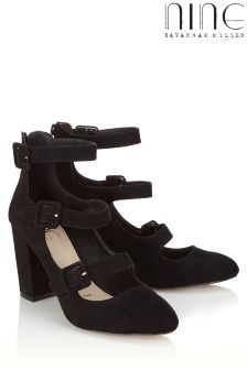 Nine By Savannah Miller Buckle Detail Court Shoes