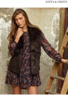 Anita & Green Faux Fur Lined Gilet