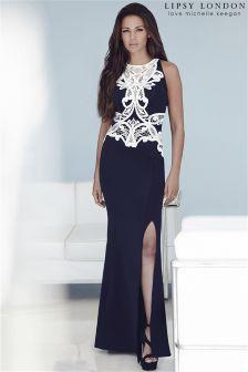 Lipsy Love Michelle Keegan Lace Trim Maxi Dress