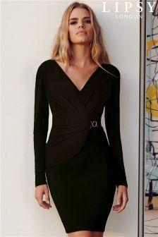 Lipsy Long Sleeve Chain Detail Dress