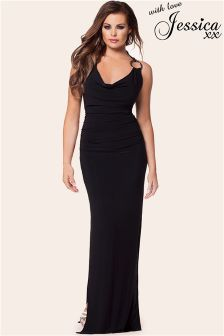 Jessica Wright Cowl Neck Detail Maxi Dress
