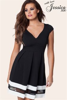 Jessica Wright Cap Sleeve Skater Dress