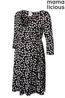 Mamalicious Maternity Spotted Dress