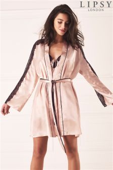 Lipsy Glam Lace Trim Robe