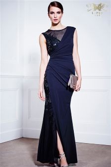 Lipsy VIP Mesh Wrap Sequin Dress