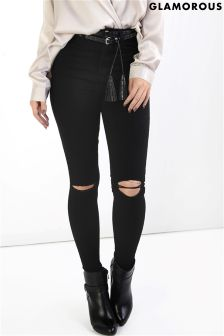 Glamorous Petites Ripped Skinny Jeans