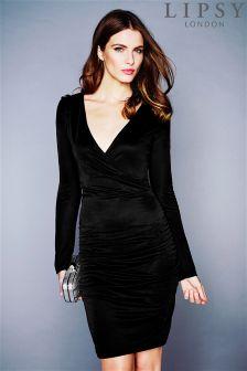 Lipsy Ruched Wrap Dress