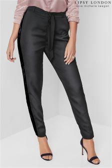 Lipsy Love Michelle Keegan Satin Tie Front Trousers