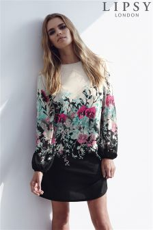 Lipsy Ombre Floral Printed Shift Dress