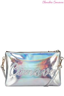 Claudia Canova Embossed Zip Top Clutch Bag