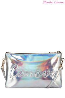 Claudia Canova Embossed Zip Top Clutch Bag
