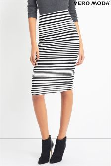 Vero Moda Striped Pencil Midi Skirt