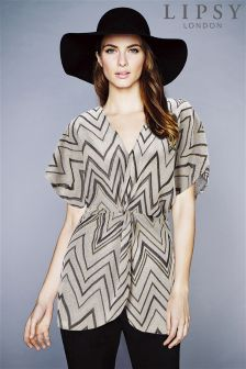 Lipsy Chevron Tunic Top