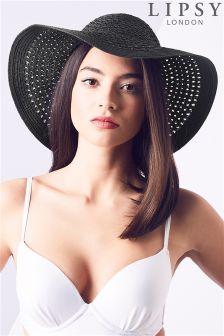 Lipsy Open Weave Floppy Hat