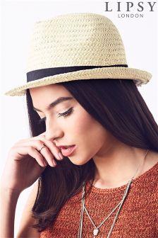 Lipsy Straw Fedora Hat