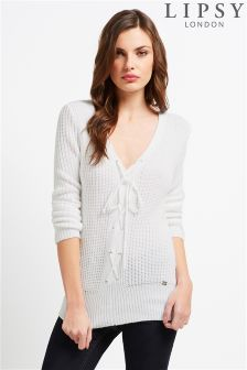 Lipsy Lace Up Front Jumper