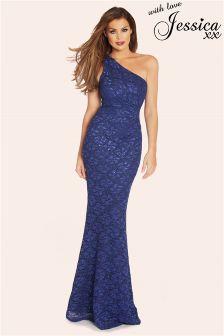 Jessica Wright Sequin Lace Maxi Dress