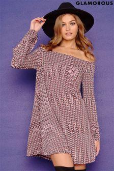 Glamorous Printed Swing Dress