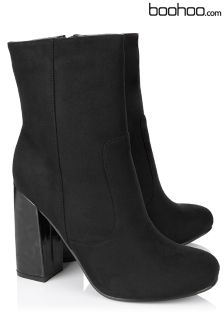 Boohoo High Block Heel Ankle Boots