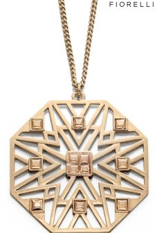 Fiorelli Large Octagonal Cut Out Pattern Pendant
