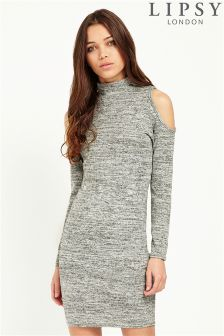 Lipsy Jersey Knit Cold Shoulder Dress
