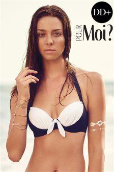 Pour Moi Bahamas Padded Halter Bikini Top DD+