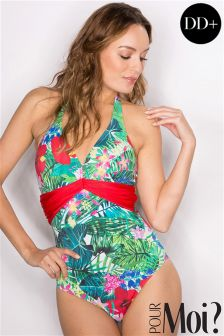 Pour Moi Jungle Fever Underwired Swimsuit DD+