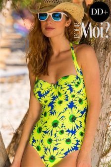 Pour Moi Daisy Print Padded Underwired Swimsuit DD+