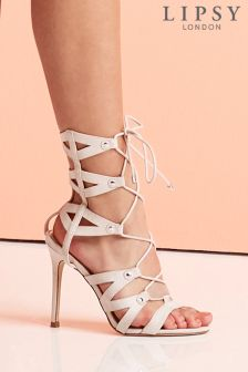 Lipsy Ghillie Lace Up Stiletto Sandals