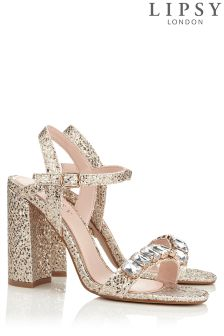 Lipsy Glitter Diamante Sandals