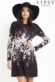 Lipsy Floral Print Skater Dress