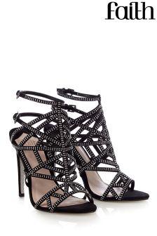 Faith Caged Sandal Heels