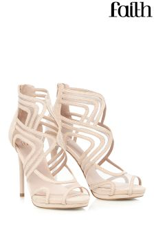 Faith Mesh Caged Heels