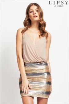 Lipsy Sequin Mini Dress