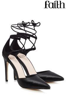 Faith Point Ghillie Heeled Sandals