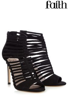 Faith Caged Heeled Sandals