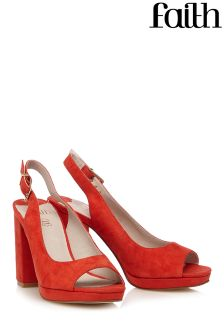 Faith Block Slingback Heels