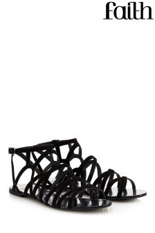 Faith Caged Flat Sandals