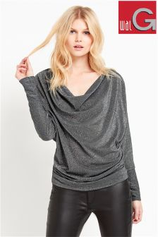 Wal G Lurex Cowl Top