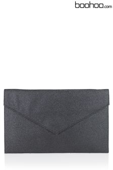 Boohoo Anne Glitter Envelope Clutch