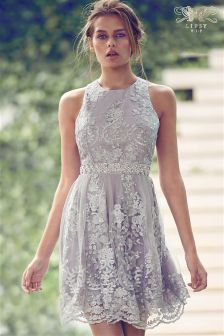 Lipsy VIP Lace Embellished Prom Dress